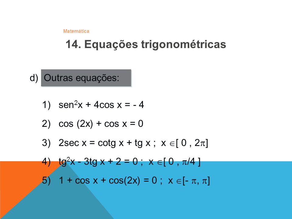 14. Equações trigonométricas