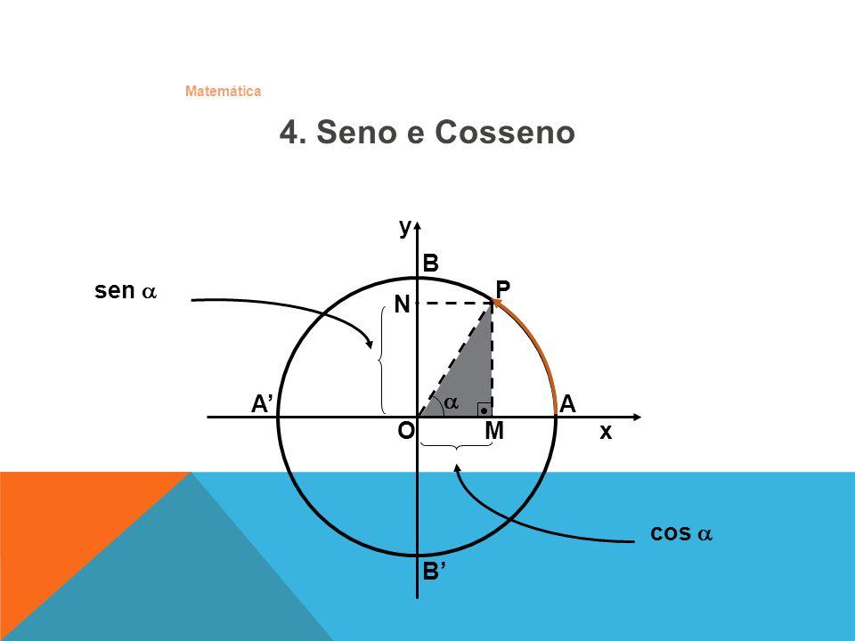 4. Seno e Cosseno y. B. sen  P. N. A' A.  O x.