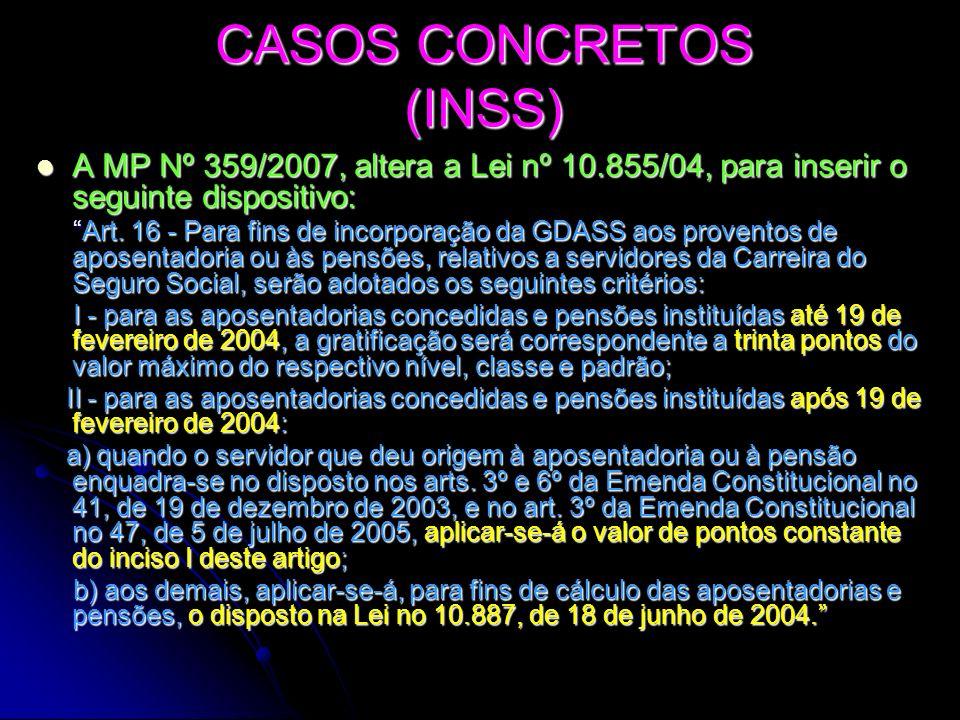 CASOS CONCRETOS (INSS)