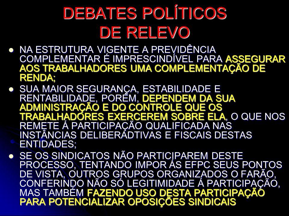 DEBATES POLÍTICOS DE RELEVO
