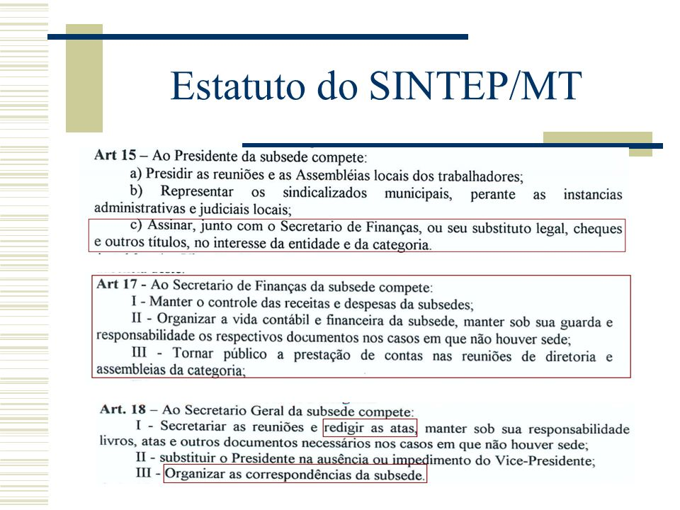 Estatuto do SINTEP/MT
