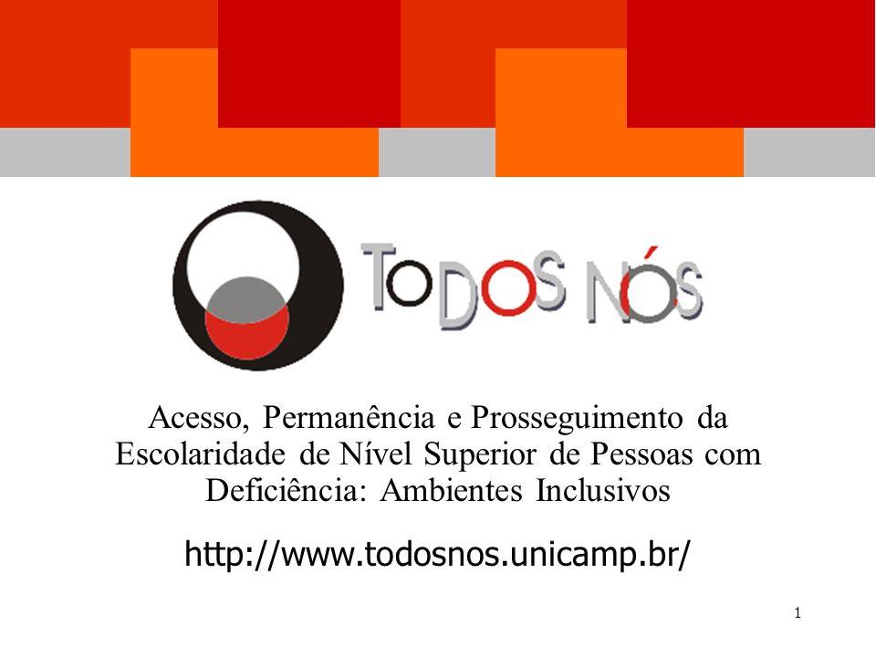 Acesso, Permanência e Prosseguimento da Escolaridade de Nível Superior de Pessoas com Deficiência: Ambientes Inclusivos