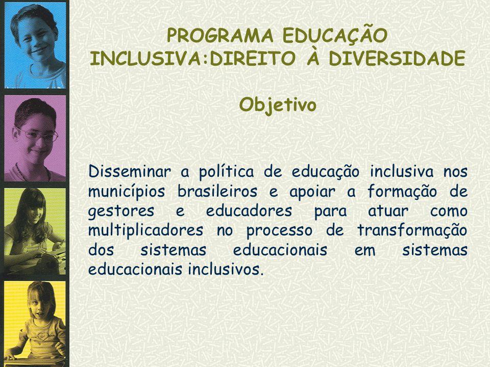 PROGRAMA EDUCAÇÃO INCLUSIVA:DIREITO À DIVERSIDADE