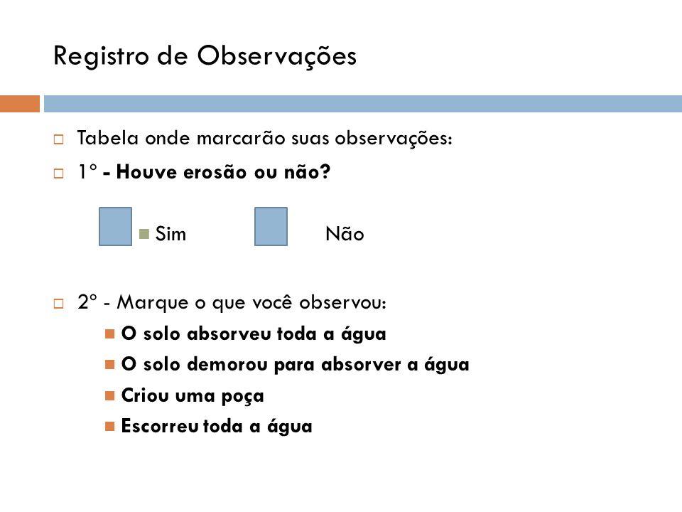 Registro de Observações