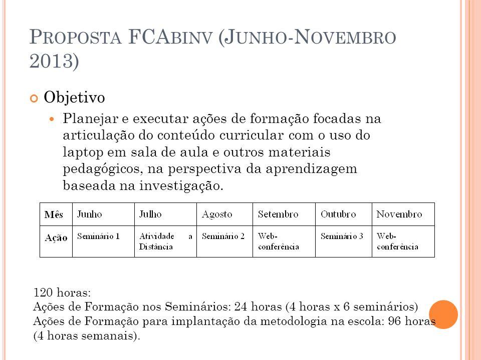 Proposta FCAbinv (Junho-Novembro 2013)