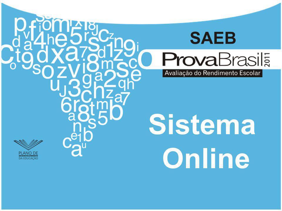 Sistema Online Nesta apresentação serão detalhadas as telas do sistema online da Prova Brasil.