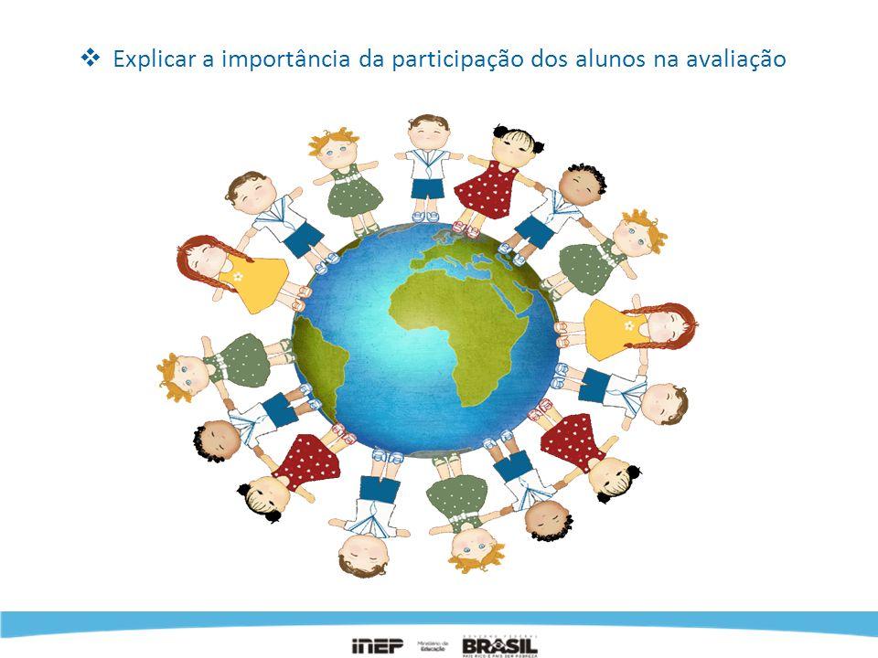 Explicar a importância da participação dos alunos na avaliação