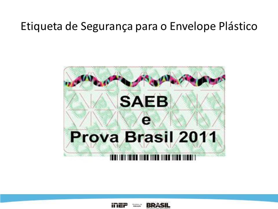 Etiqueta de Segurança para o Envelope Plástico