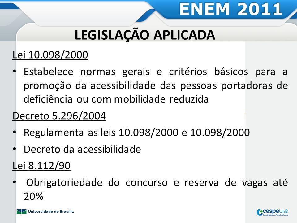 ENEM 2011 LEGISLAÇÃO APLICADA Lei 10.098/2000