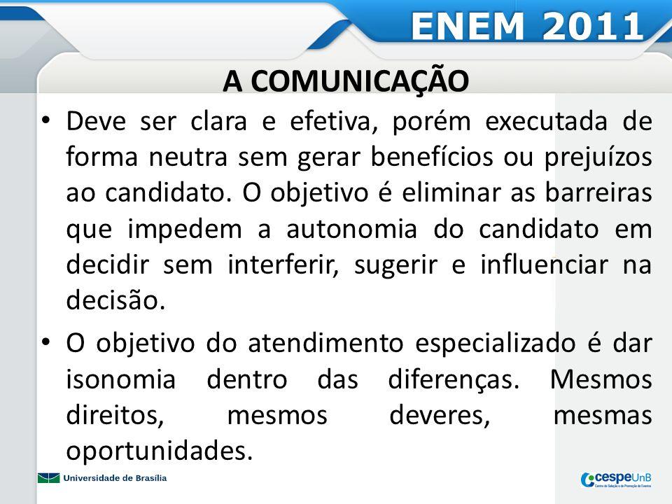 ENEM 2011 A COMUNICAÇÃO.