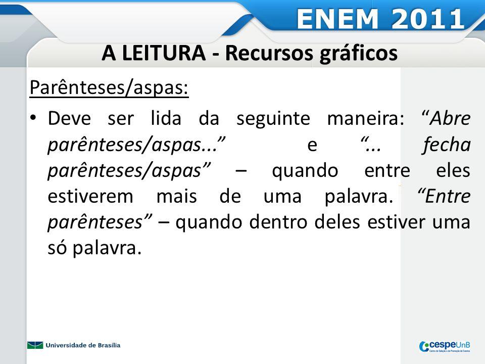 A LEITURA - Recursos gráficos