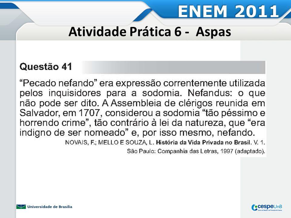 Atividade Prática 6 - Aspas