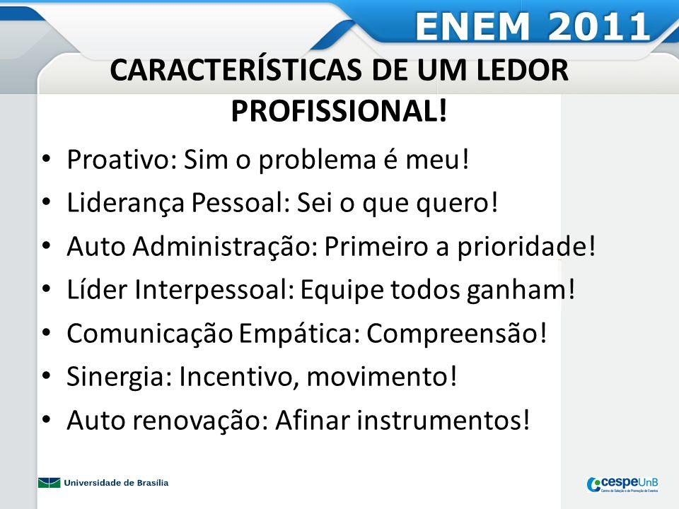 CARACTERÍSTICAS DE UM LEDOR PROFISSIONAL!