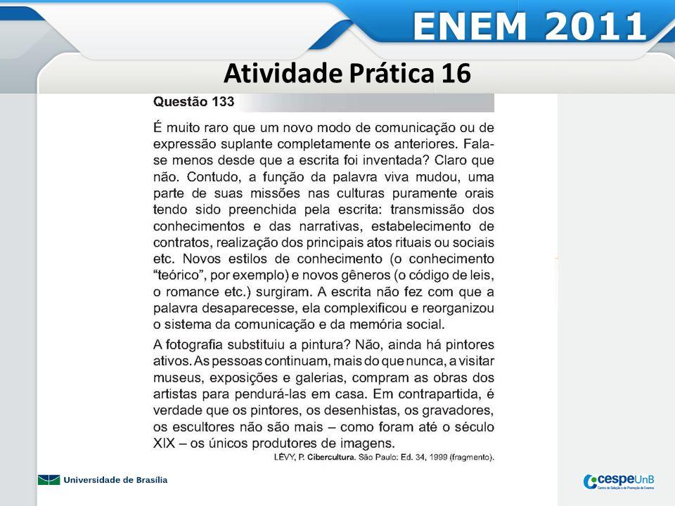 ENEM 2011 Atividade Prática 16
