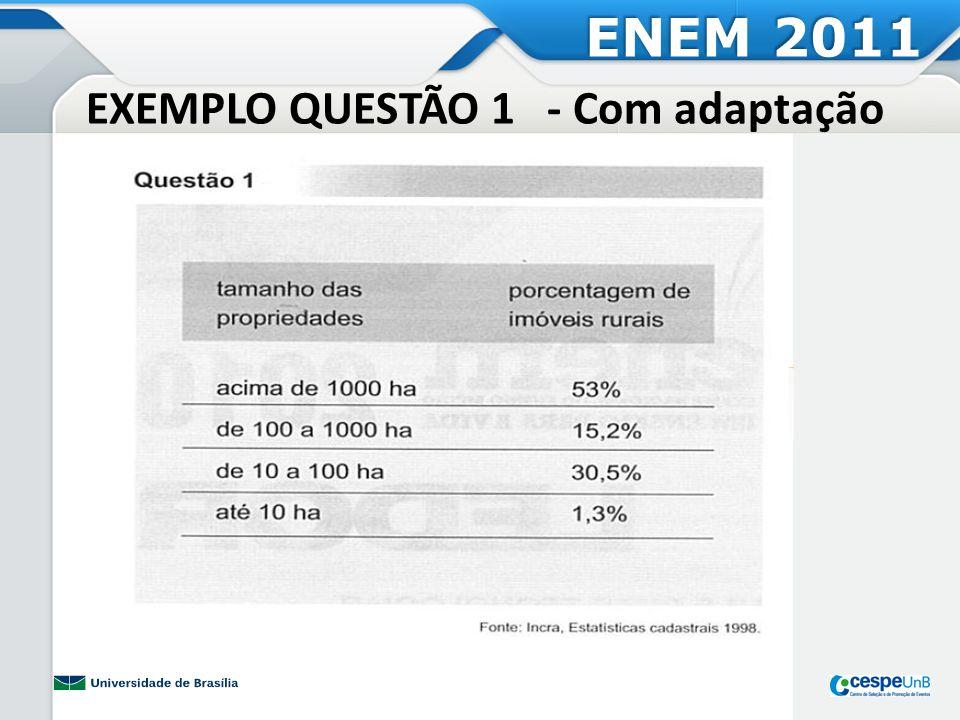 EXEMPLO QUESTÃO 1 - Com adaptação