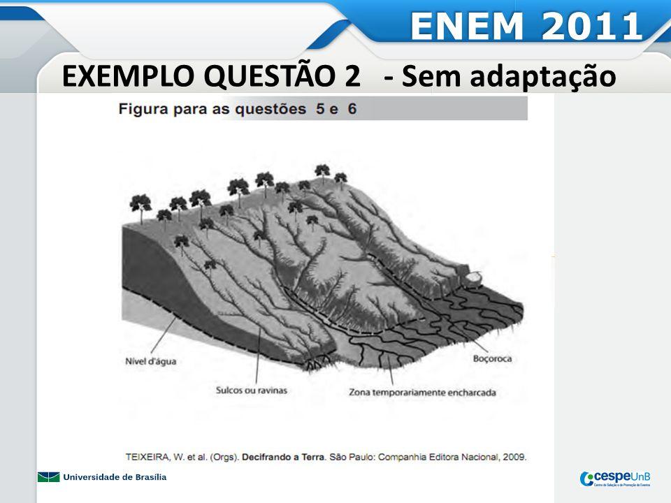 EXEMPLO QUESTÃO 2 - Sem adaptação