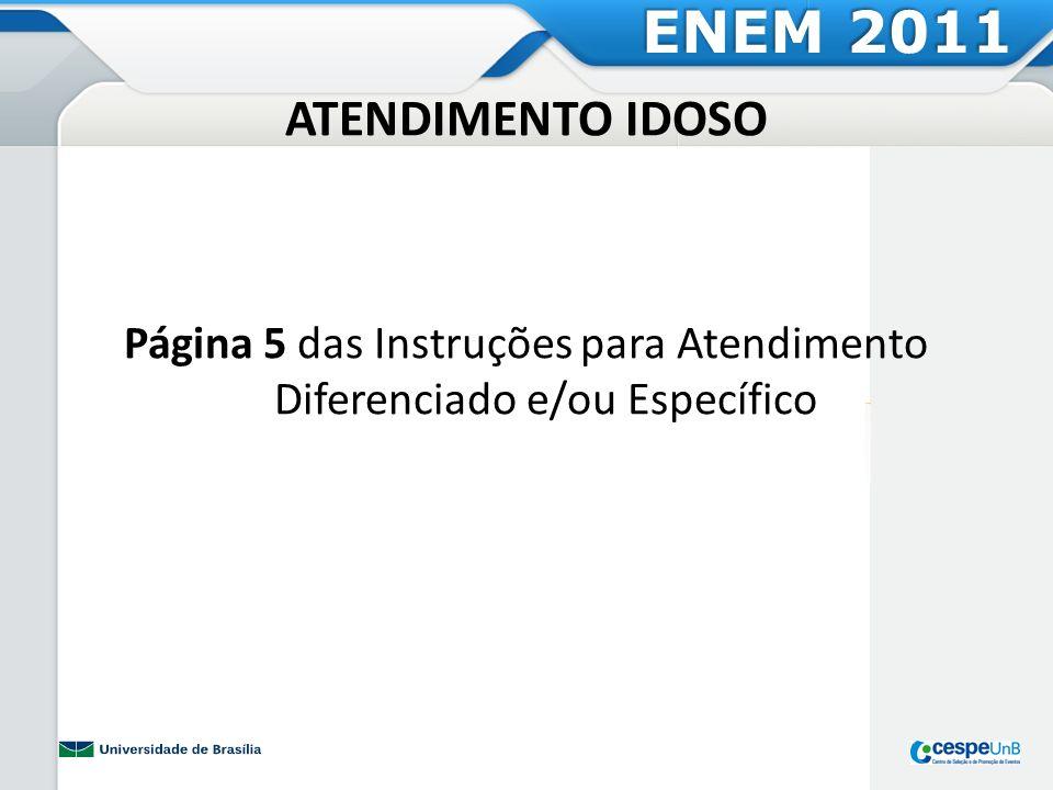 Página 5 das Instruções para Atendimento Diferenciado e/ou Específico