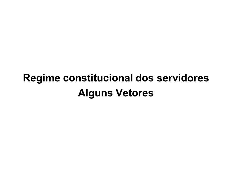 Regime constitucional dos servidores