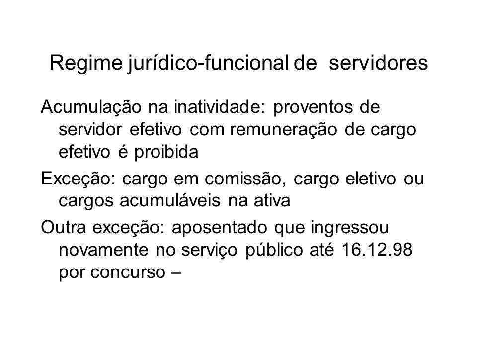 Regime jurídico-funcional de servidores