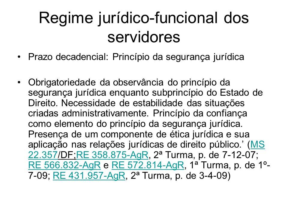 Regime jurídico-funcional dos servidores