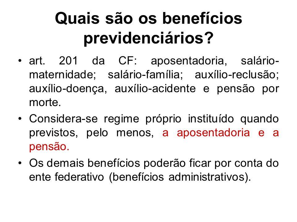 Quais são os benefícios previdenciários