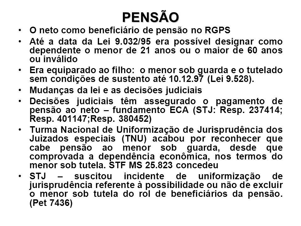 PENSÃO O neto como beneficiário de pensão no RGPS