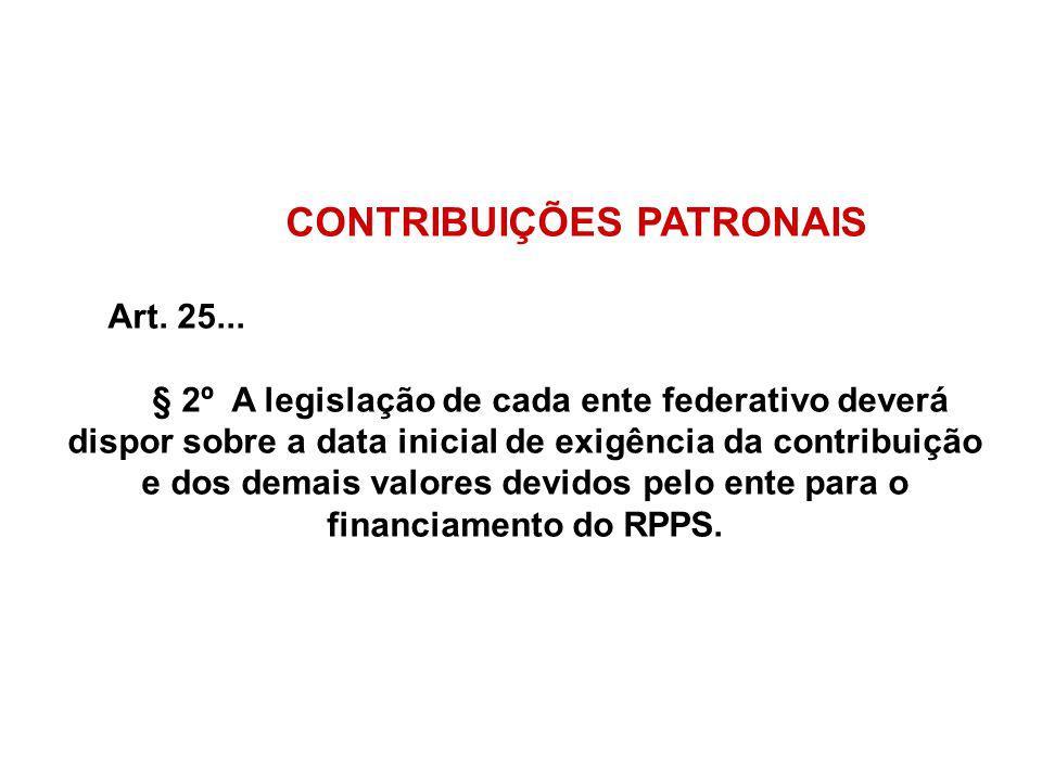 CONTRIBUIÇÕES PATRONAIS