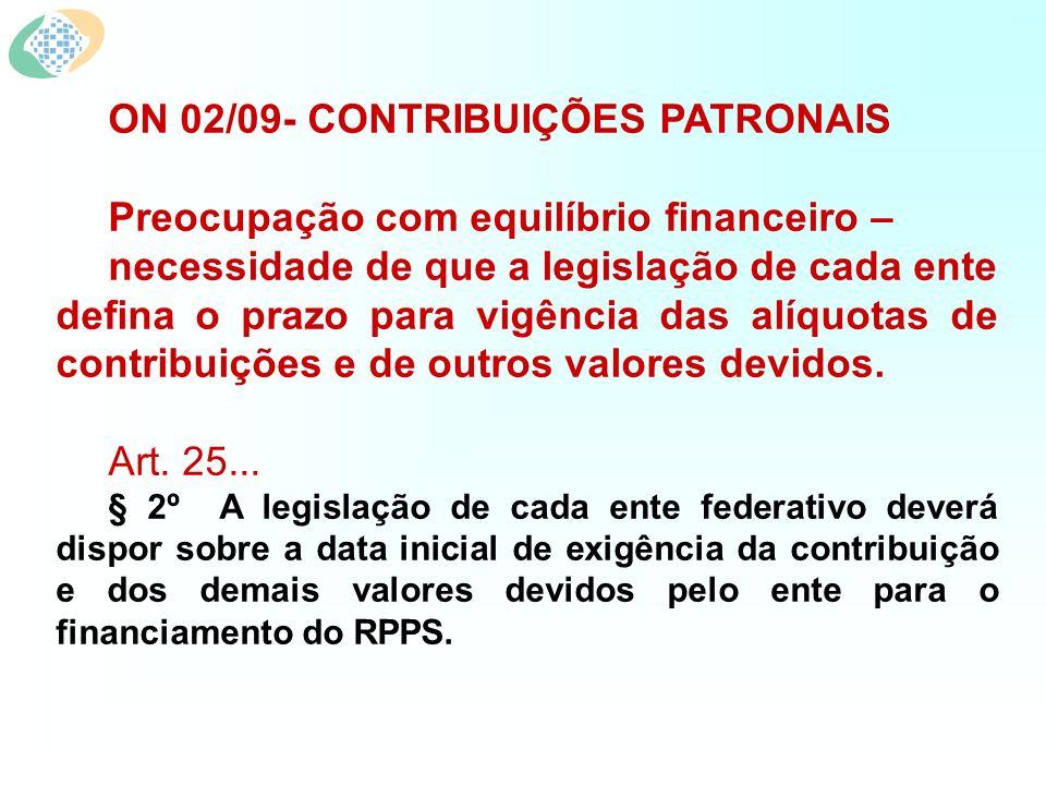 ON 02/09- CONTRIBUIÇÕES PATRONAIS