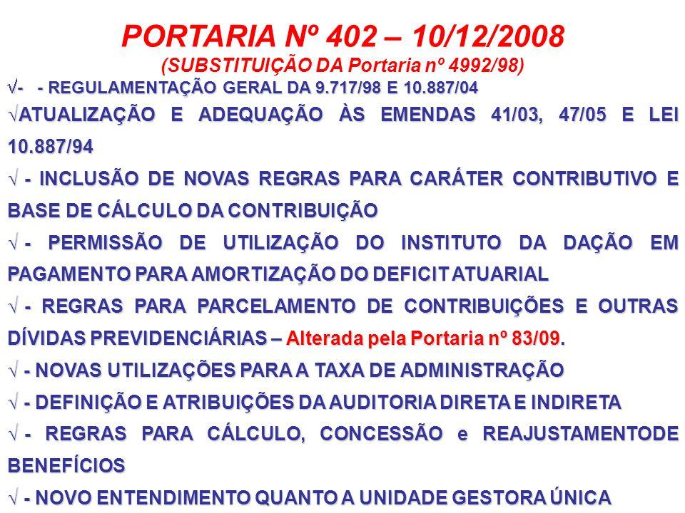 (SUBSTITUIÇÃO DA Portaria nº 4992/98)