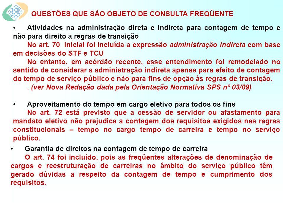 QUESTÕES QUE SÃO OBJETO DE CONSULTA FREQÜENTE