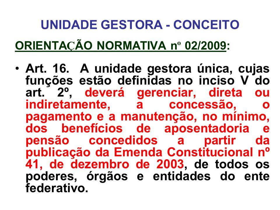 UNIDADE GESTORA - CONCEITO