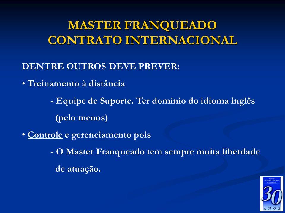 MASTER FRANQUEADO CONTRATO INTERNACIONAL
