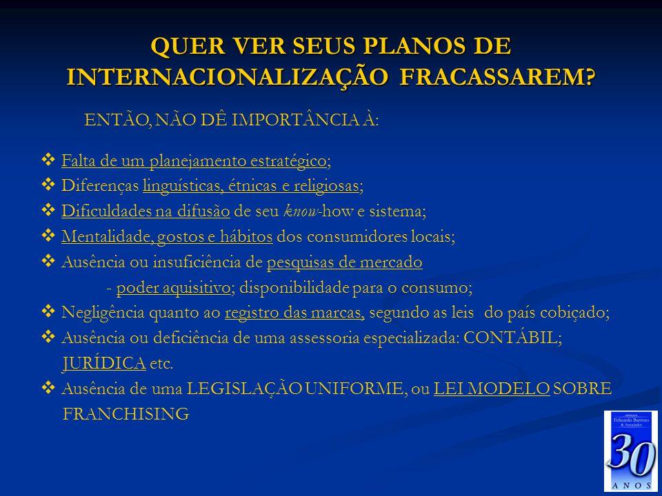 QUER VER SEUS PLANOS DE INTERNACIONALIZAÇÃO FRACASSAREM