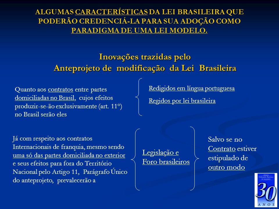 Inovações trazidas pelo Anteprojeto de modificação da Lei Brasileira