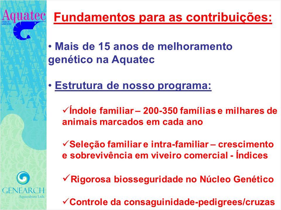 Fundamentos para as contribuições: