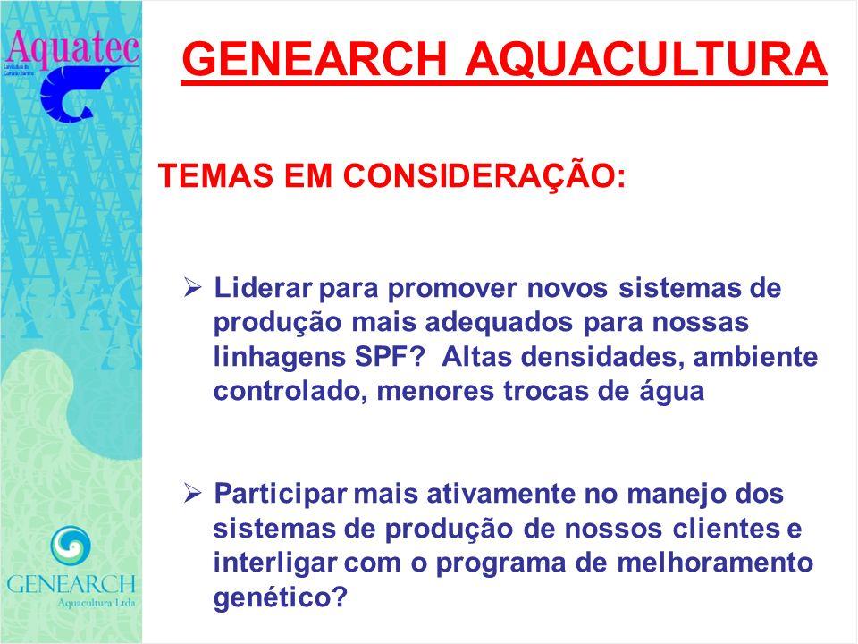 GENEARCH AQUACULTURA TEMAS EM CONSIDERAÇÃO: