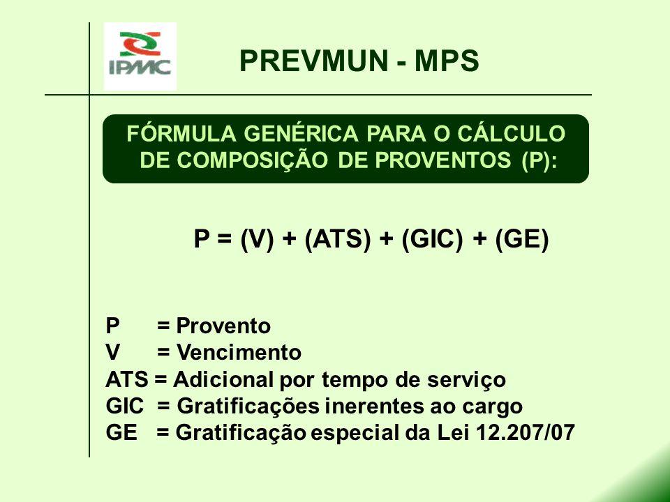 PREVMUN - MPS P = (V) + (ATS) + (GIC) + (GE)