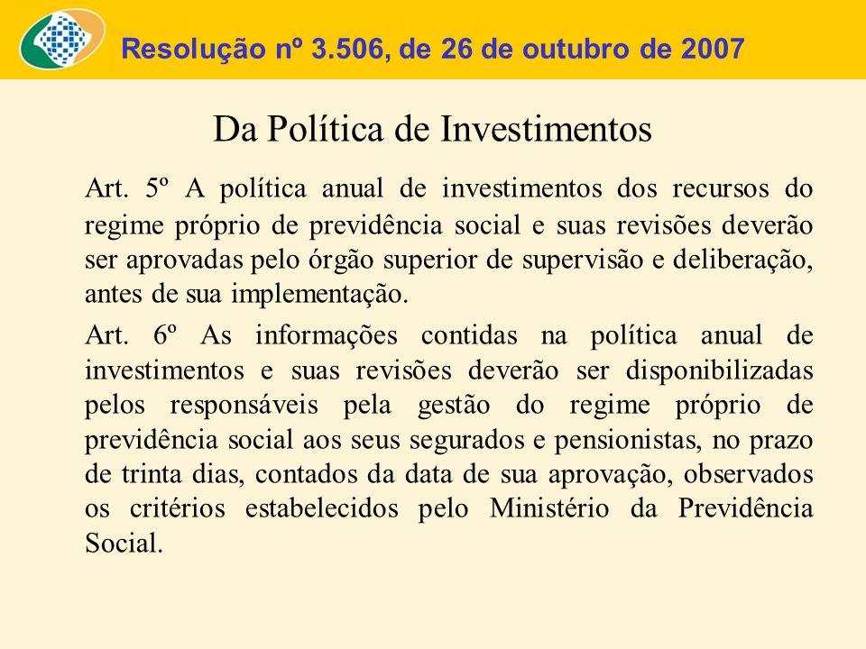 Resolução nº 3.506, de 26 de outubro de 2007