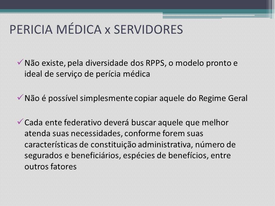 PERICIA MÉDICA x SERVIDORES