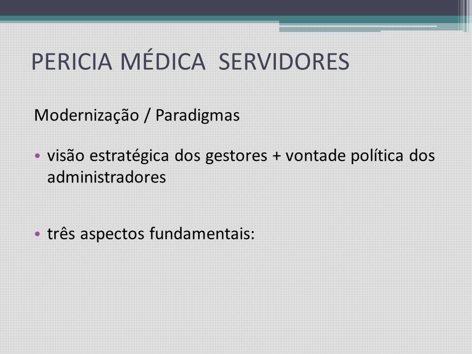 PERICIA MÉDICA SERVIDORES