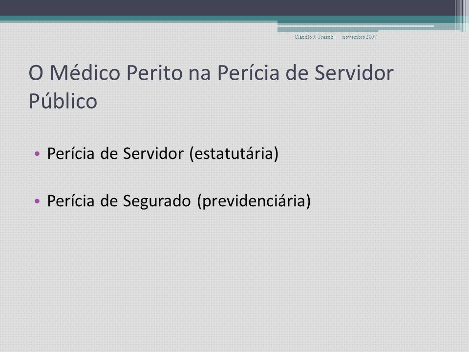 O Médico Perito na Perícia de Servidor Público