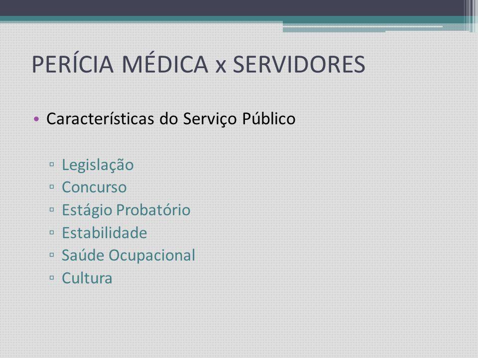 PERÍCIA MÉDICA x SERVIDORES
