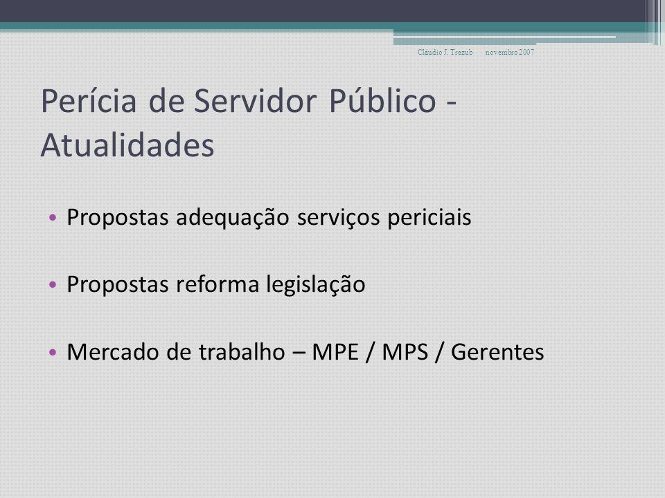 Perícia de Servidor Público - Atualidades