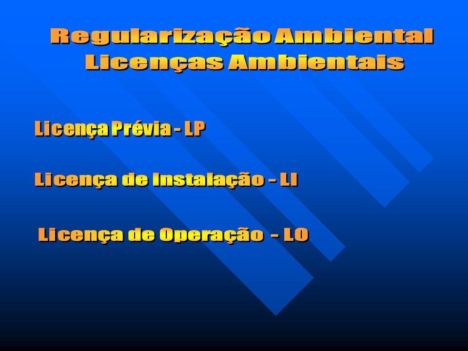 Regularização Ambiental Licenças Ambientais