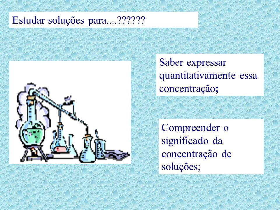 Estudar soluções para.... .