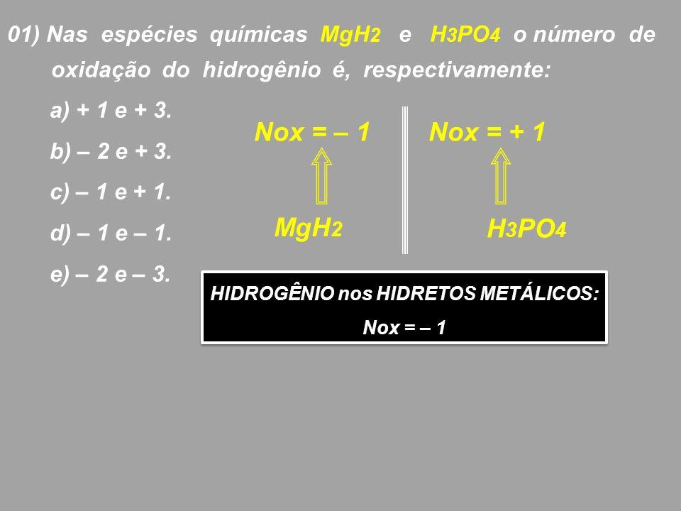 HIDROGÊNIO nos HIDRETOS METÁLICOS: