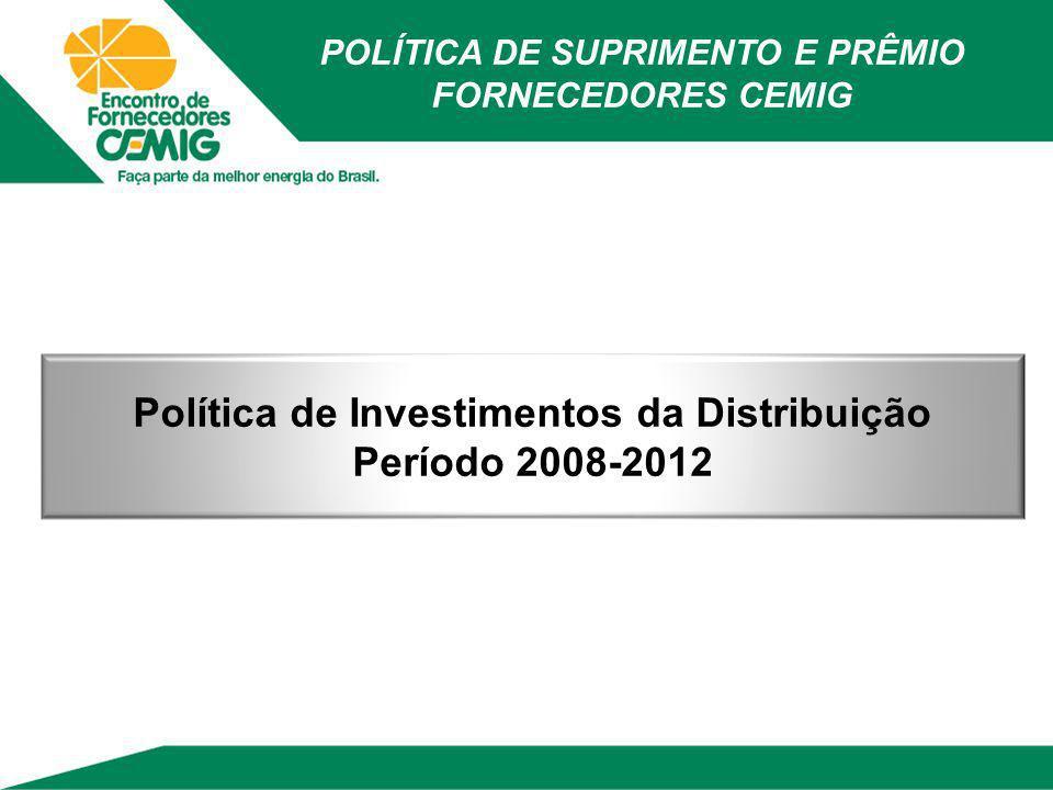 Política de Investimentos da Distribuição Período 2008-2012