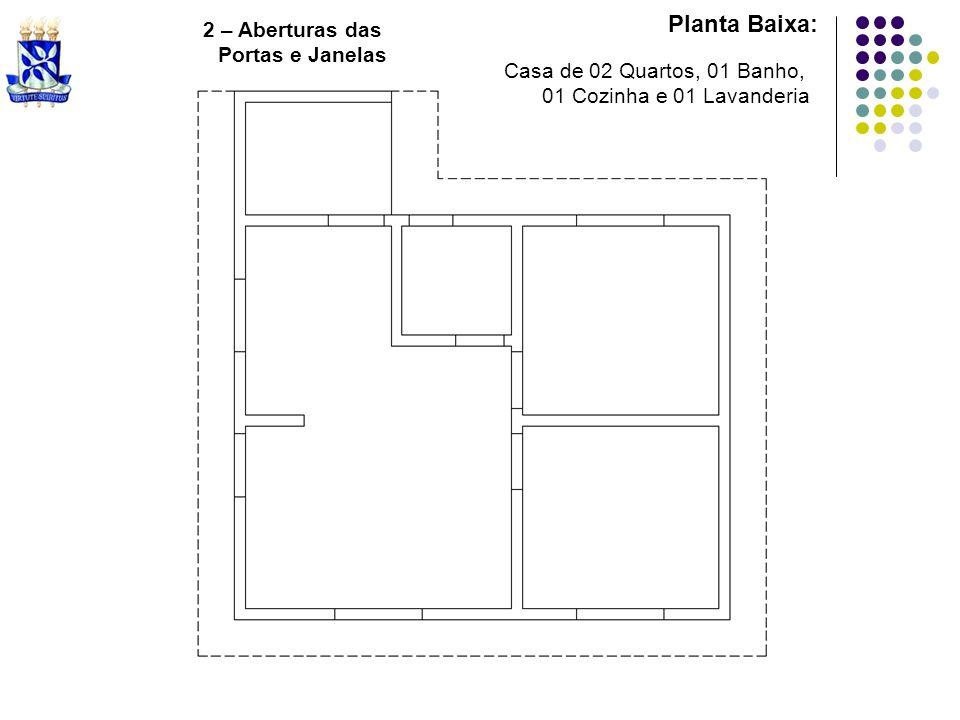 Planta Baixa: 2 – Aberturas das Portas e Janelas