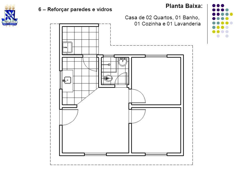 Planta Baixa: 6 – Reforçar paredes e vidros