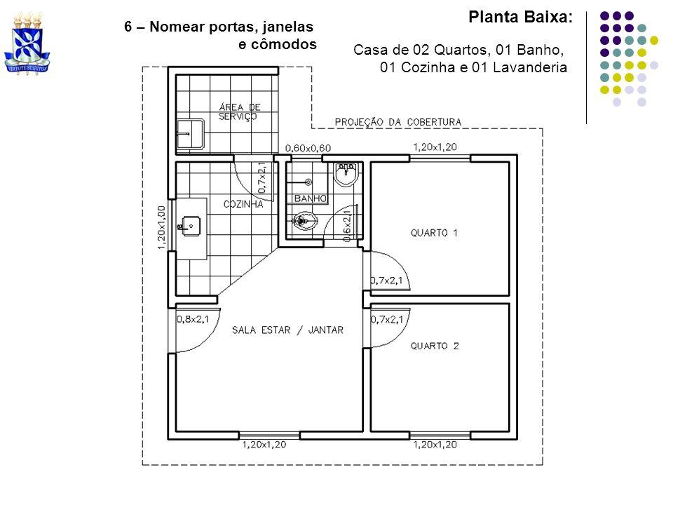 Planta Baixa: 6 – Nomear portas, janelas e cômodos